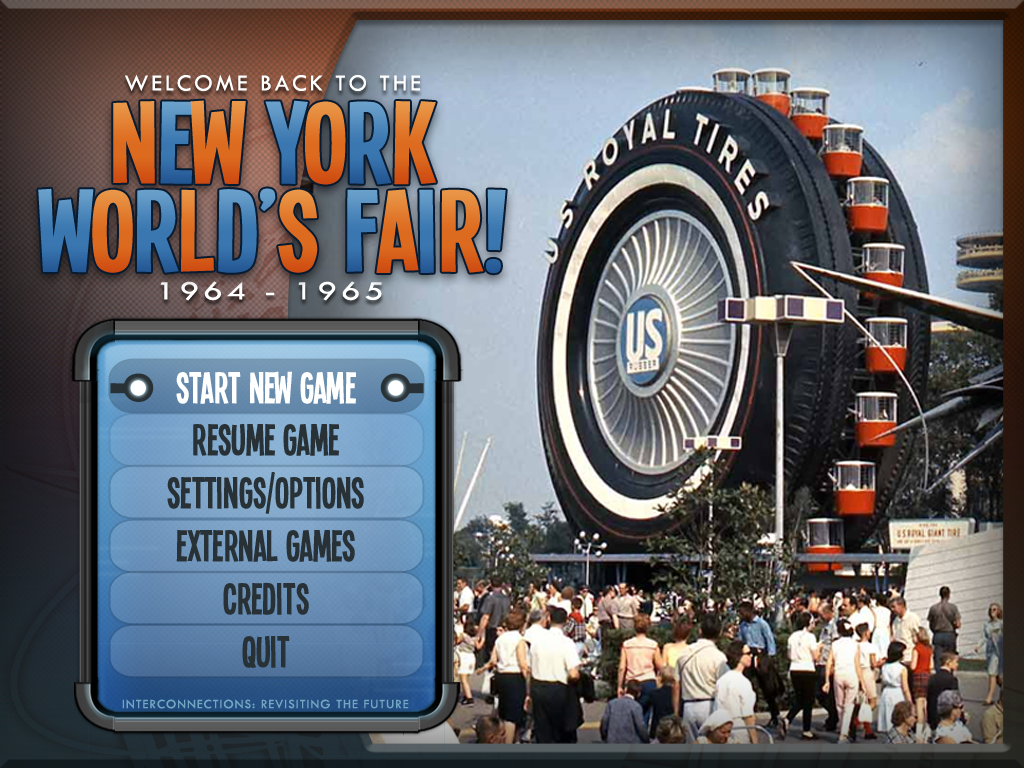 The final Main Menu design.